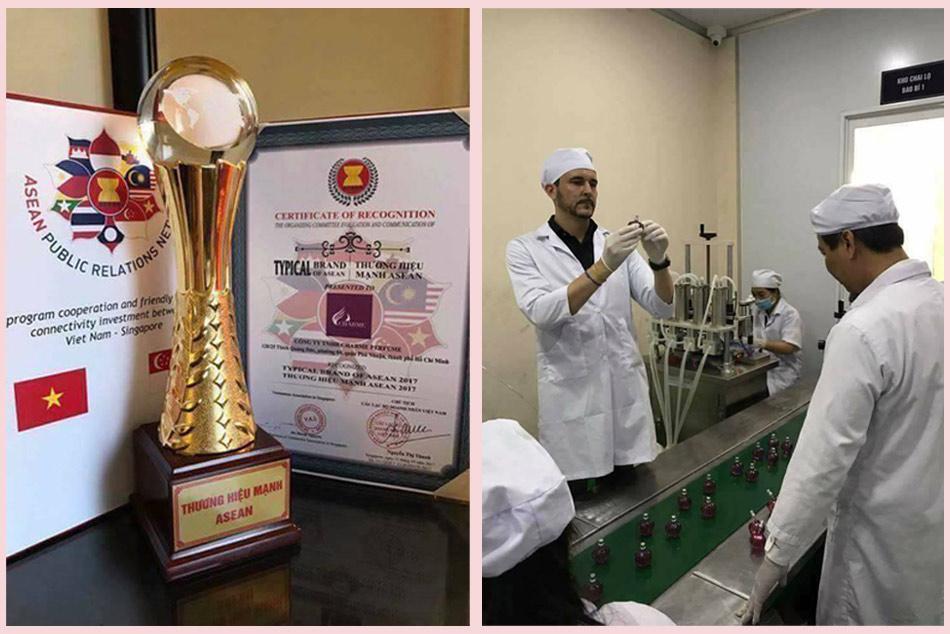 Cơ sở sản xuất Nước hoa vùng kín Charme được kiểm tra nghiêm ngặt