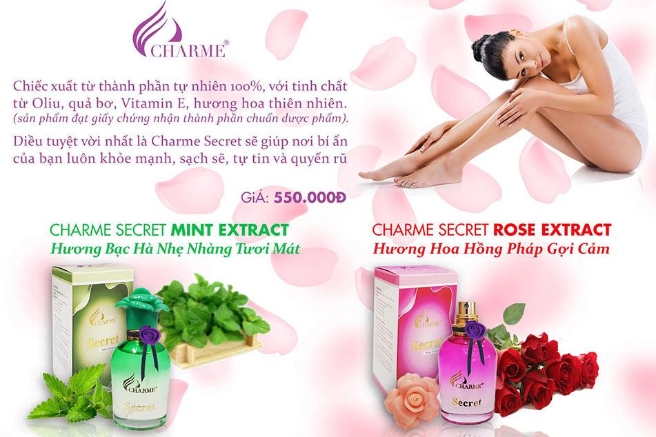 Công dụng của Nước hoa vùng kín Charme Secret
