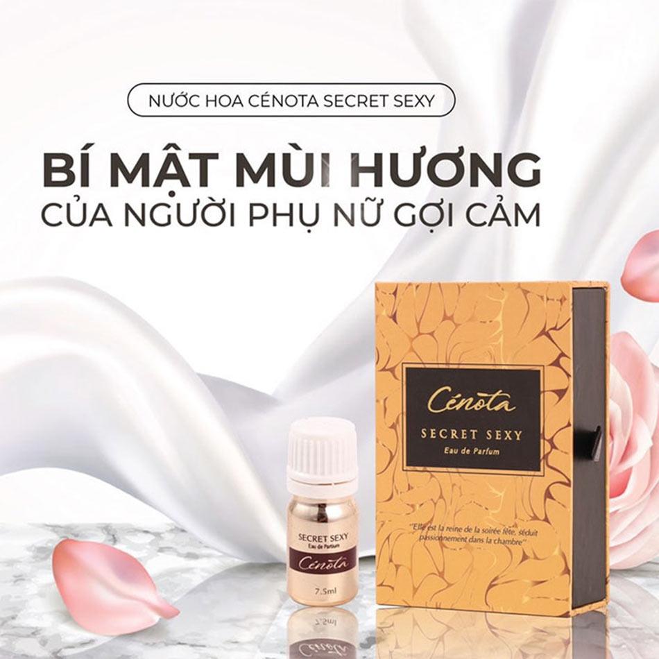 Nước hoa vùng kín Cenota Secret Sexy - Bí mật mùi hương của người phụ nữ gợi cảm.